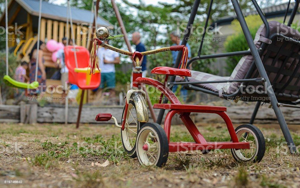 Vintage/retro Kind Fahrrad – Foto