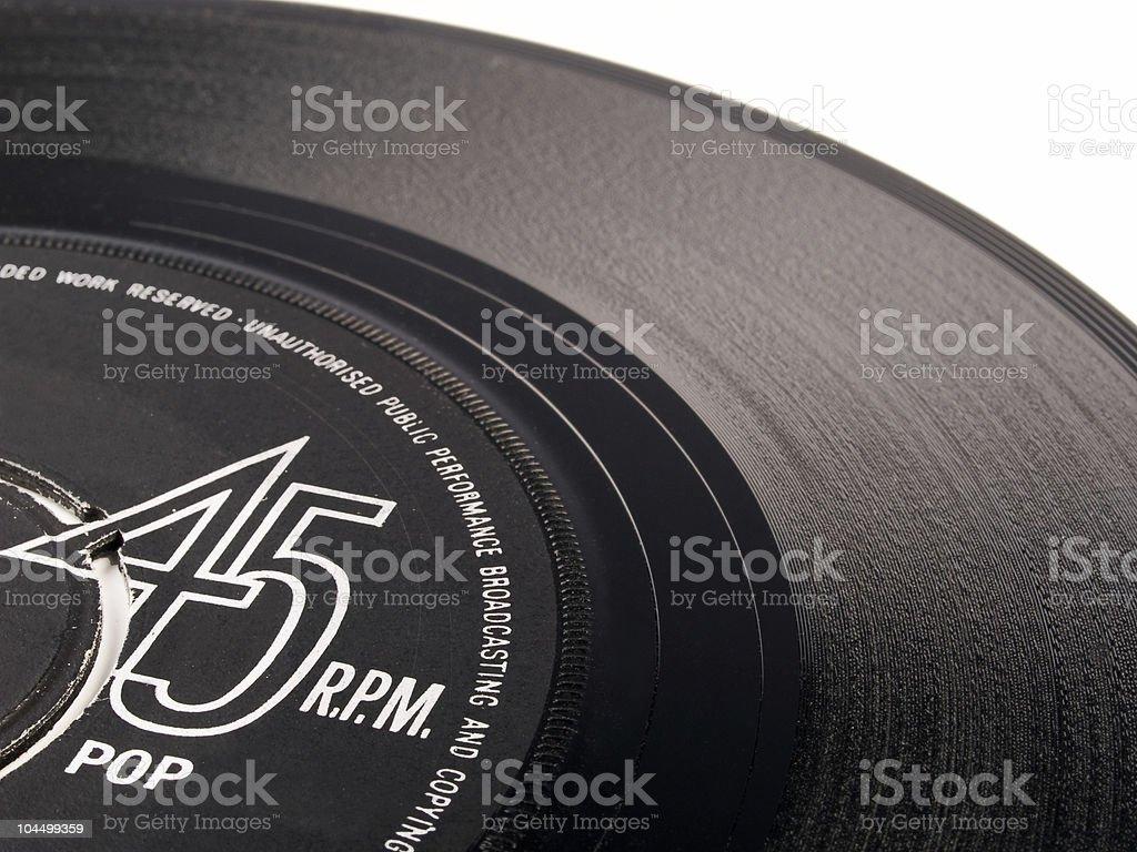 vinyl 45 rpm pop record stock photo