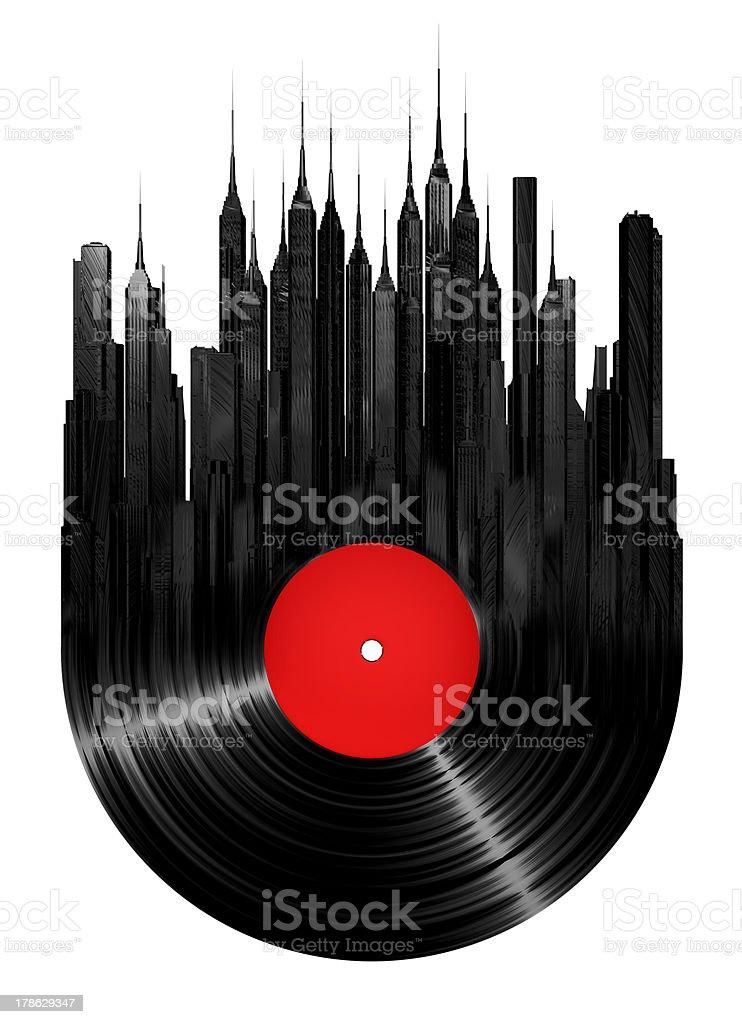 Vinyl city stock photo