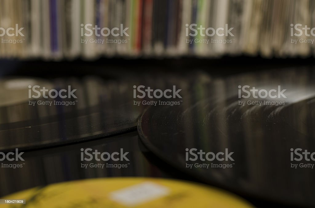 Vinyl in front of Vynil stock photo