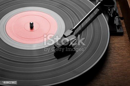 Vintage Vinyl Records. White Background