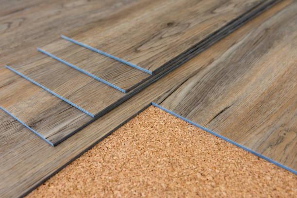 vinyl plank - pavimento foto e immagini stock