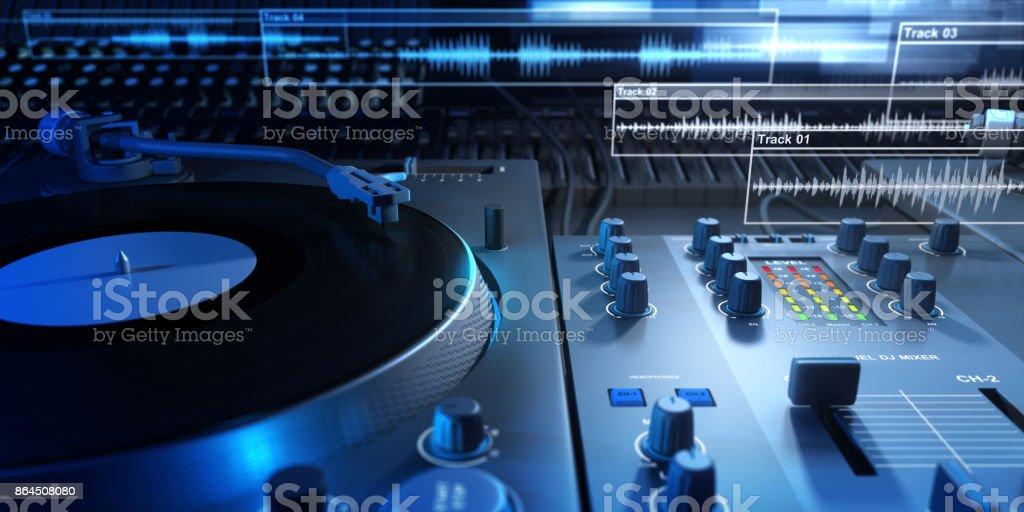Vinyl Player and Mixer stock photo