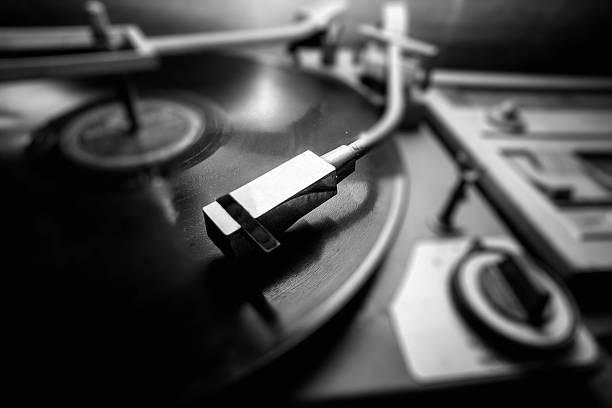 Vinyl-Spieler/Retro – Foto