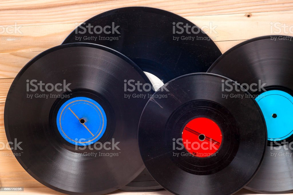 Vinyl record. Copy space for text. foto stock royalty-free