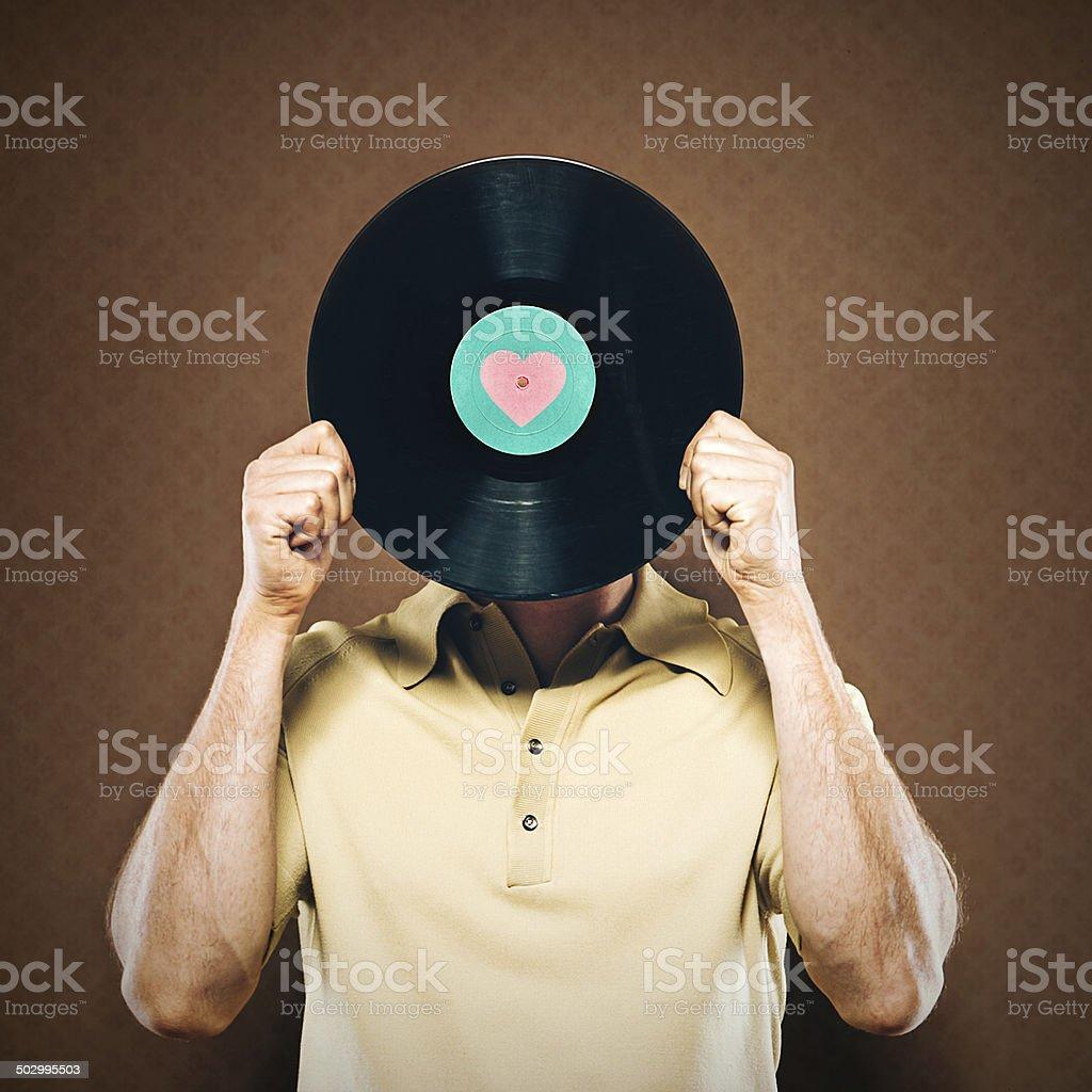 Vinyl Record Head stock photo