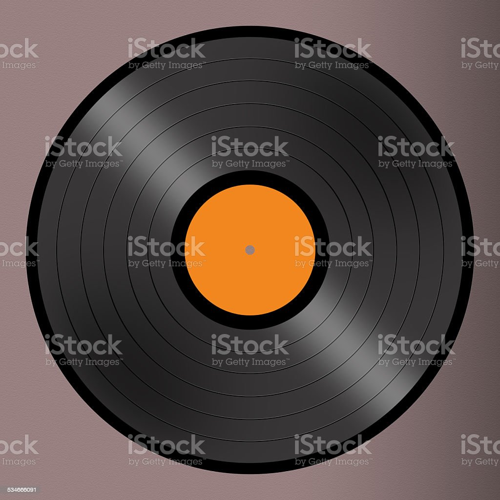 Vinyl Record High Resolution With Clipping Path Included stock photo