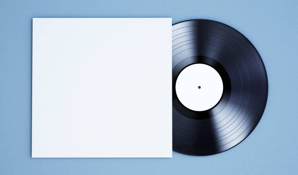vinyl record mockup - records stock photos and pictures