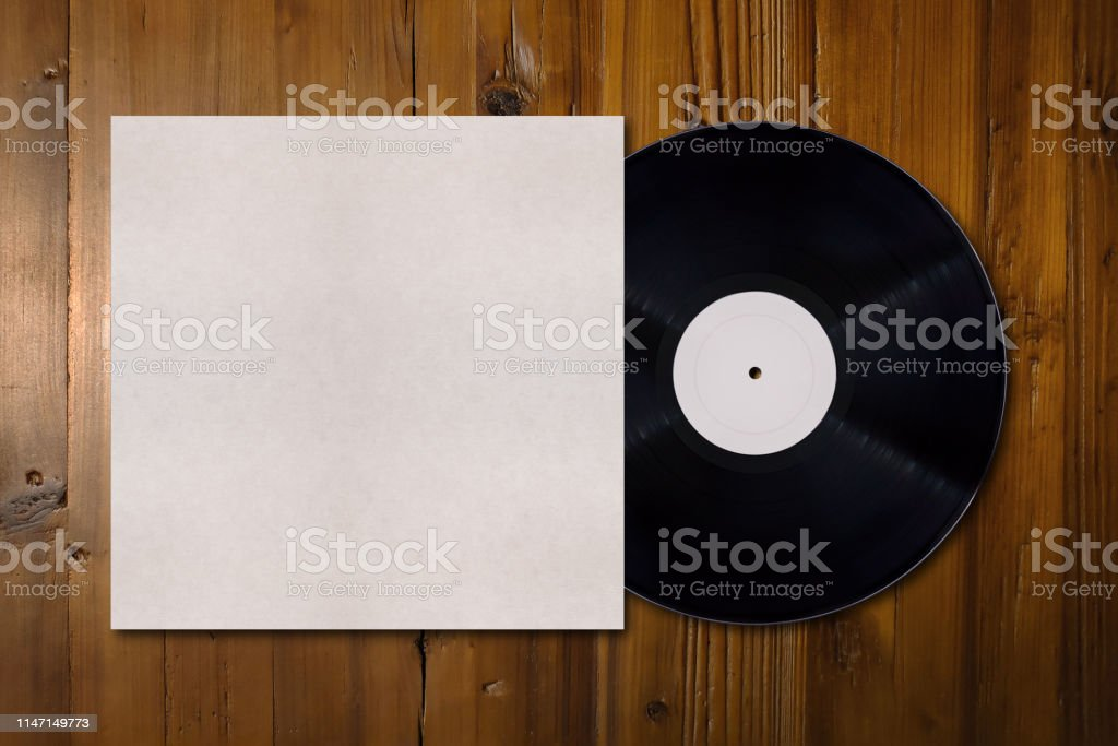Vinyl record mockup with copy space - Royalty-free Abstract Stock Photo