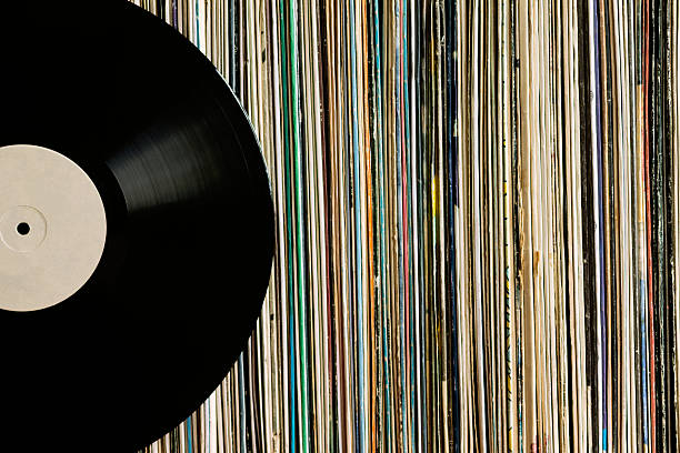 Vinyl record on a collection of albums – Foto
