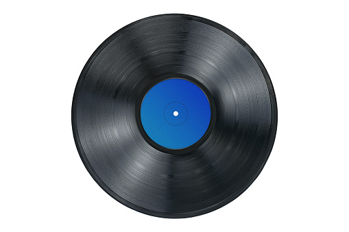 Vinyl record on white background, isolated