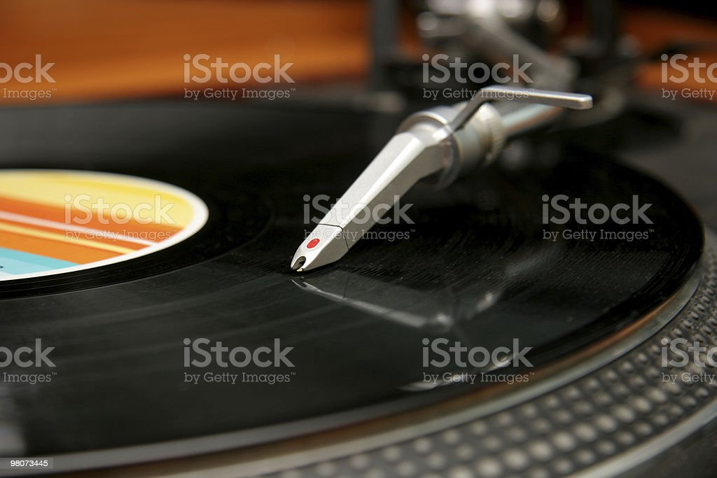 Dischi in vinile foto stock royalty-free