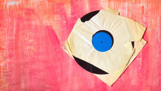 Vinyl-Aufnahme mit leerem Cover, Vektor – Foto