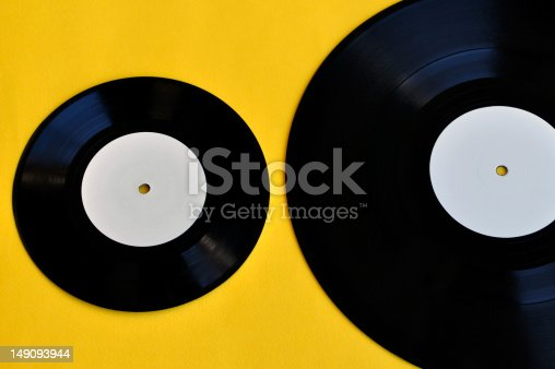 istock vinyl records lp and single 149093944