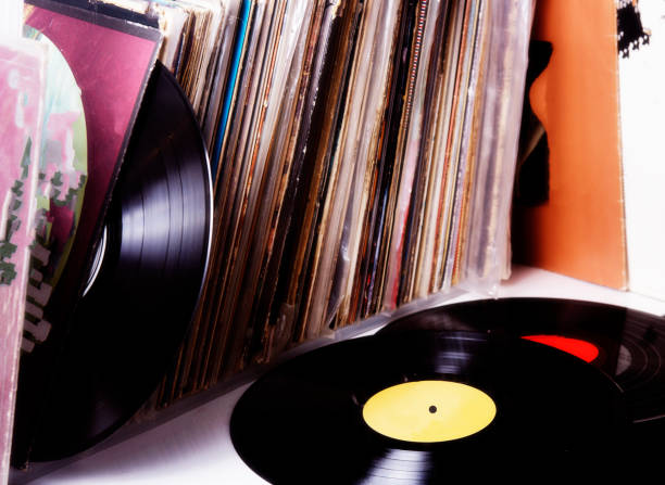 Vinyl records music collection Vinyl record music collection new age music stock pictures, royalty-free photos & images