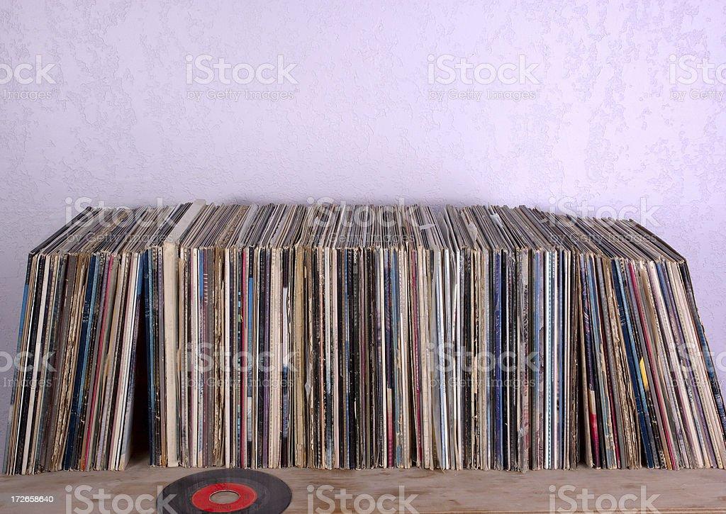 Vinyl records bildbanksfoto