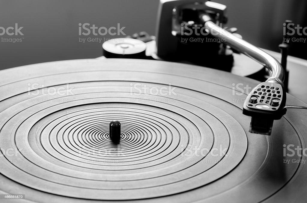 Vinyl turntable stock photo
