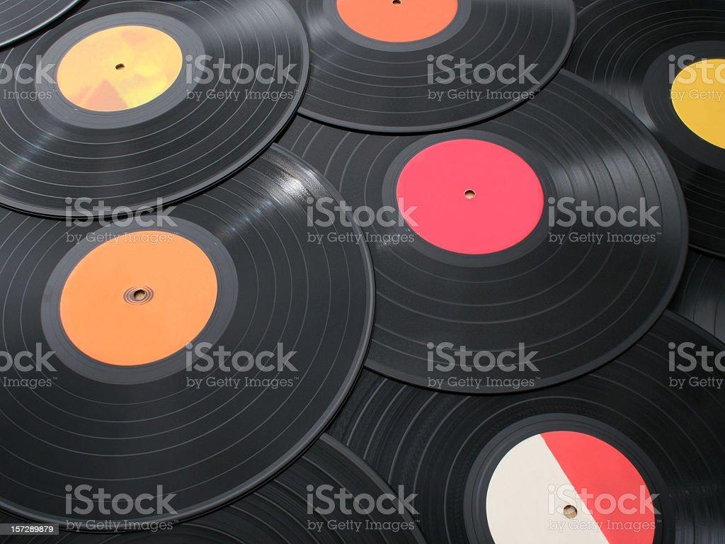 Vinyls background stock photo