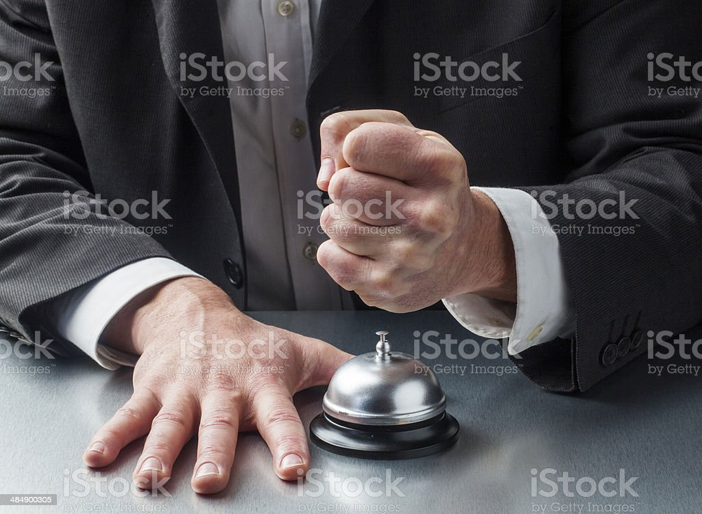 violence in customer service stock photo