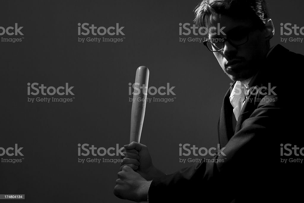 Violent businessman royalty-free stock photo