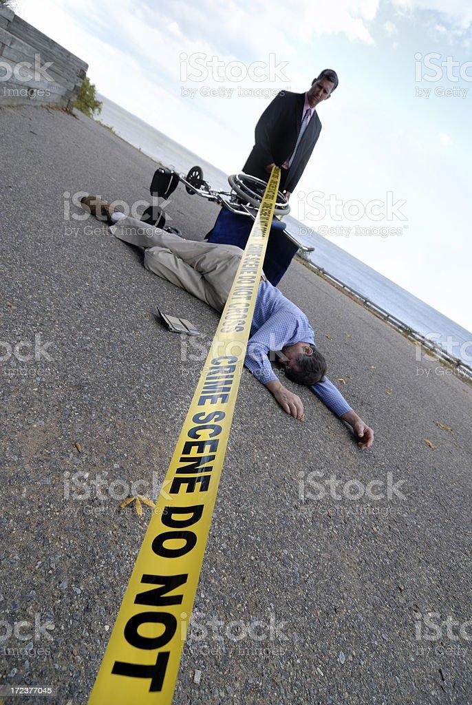 Violent Crime Scene royalty-free stock photo