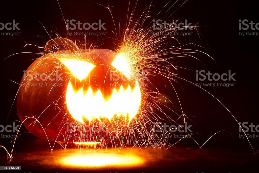 violent pumpkin royalty-free stock photo