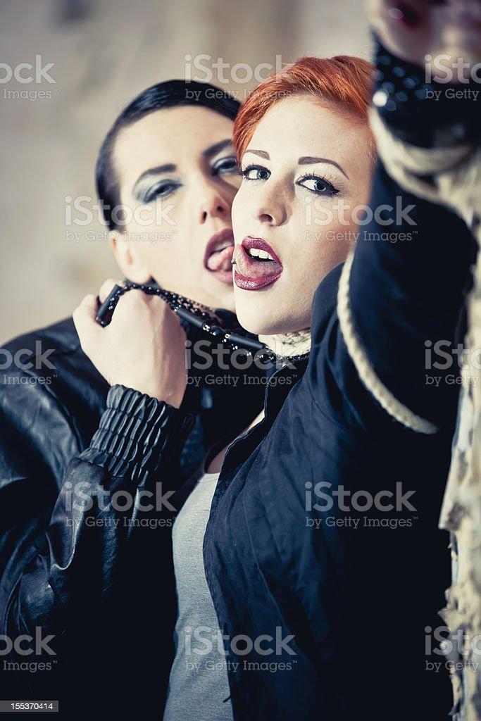 Violent seduction royalty-free stock photo