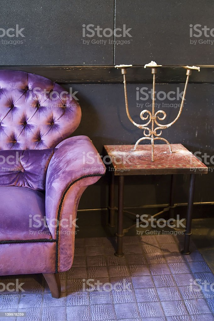 violet armchair royalty-free stock photo