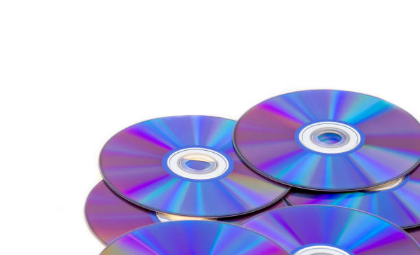 violet blu ray fond dvd rom burning - blu ray disc photos et images de collection