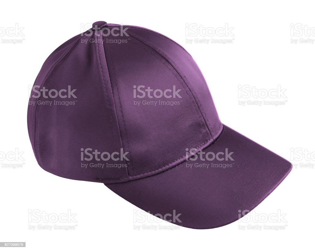 Violet cap isolated on white stock photo