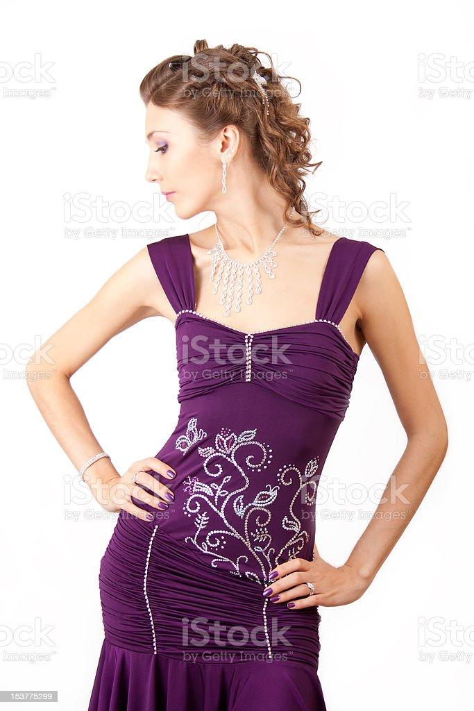 Violet dress. royalty-free stock photo