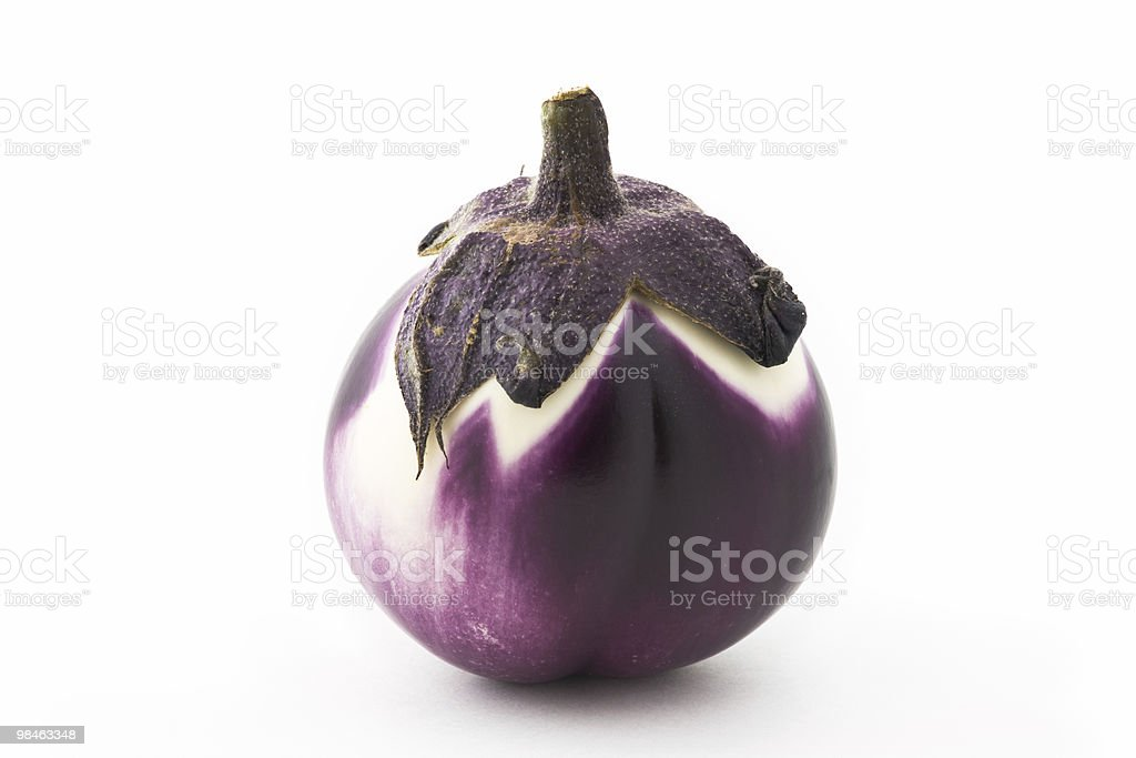 Violet Eggplant royalty-free stock photo