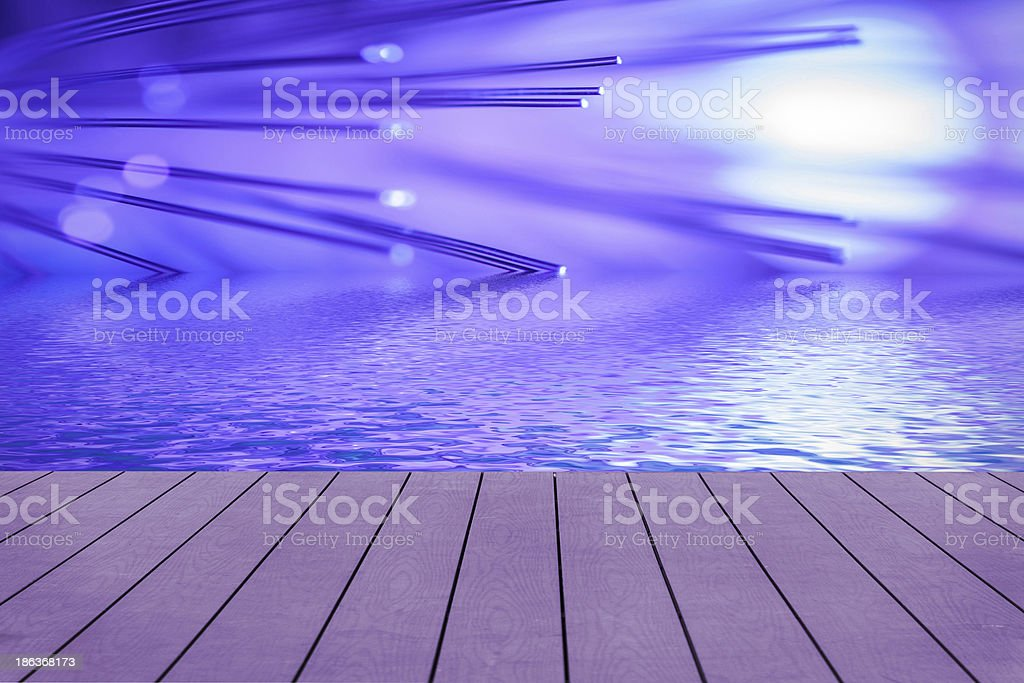 Violet fiber optic. Concept. royalty-free stock photo