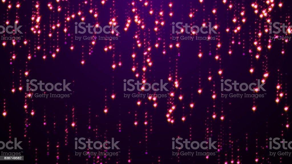Violet Particles Glitter Glamour Rain stock photo