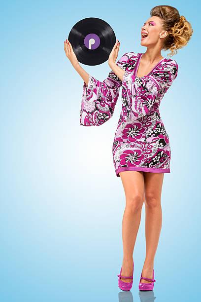 violet vinyl. - hippie kleider stock-fotos und bilder
