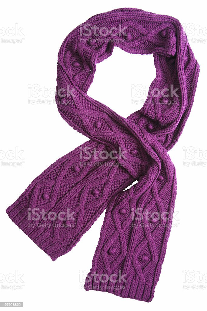 Violet wool scarf royalty-free stock photo