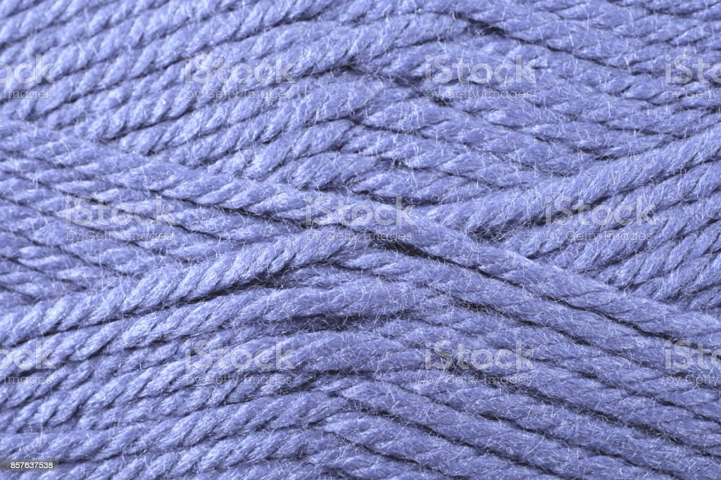 Violet Yarn Texture Close Up stock photo