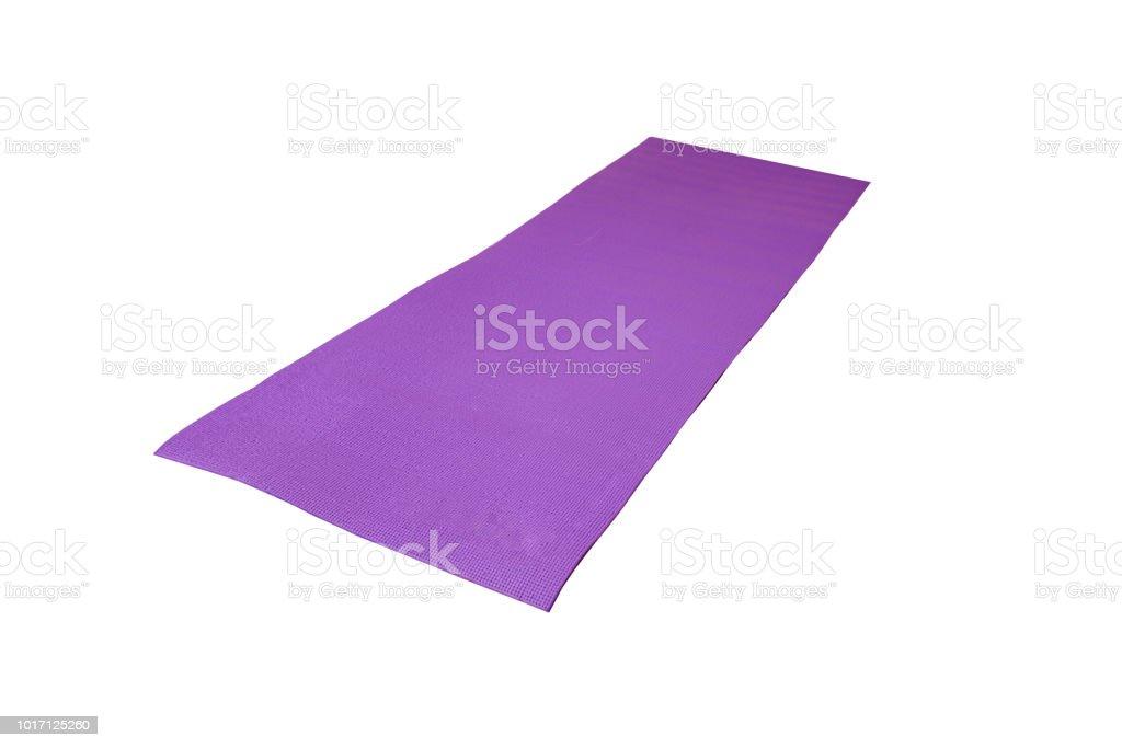 Tapis Du0027yoga Violet Sur Fond Blanc Photo Libre De Droits