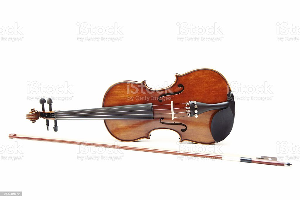 Violin and Bow stock photo