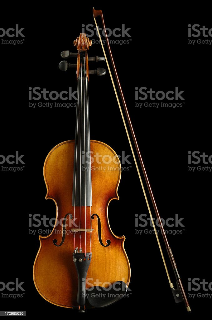 Violin and Bow with Paths royalty-free stock photo
