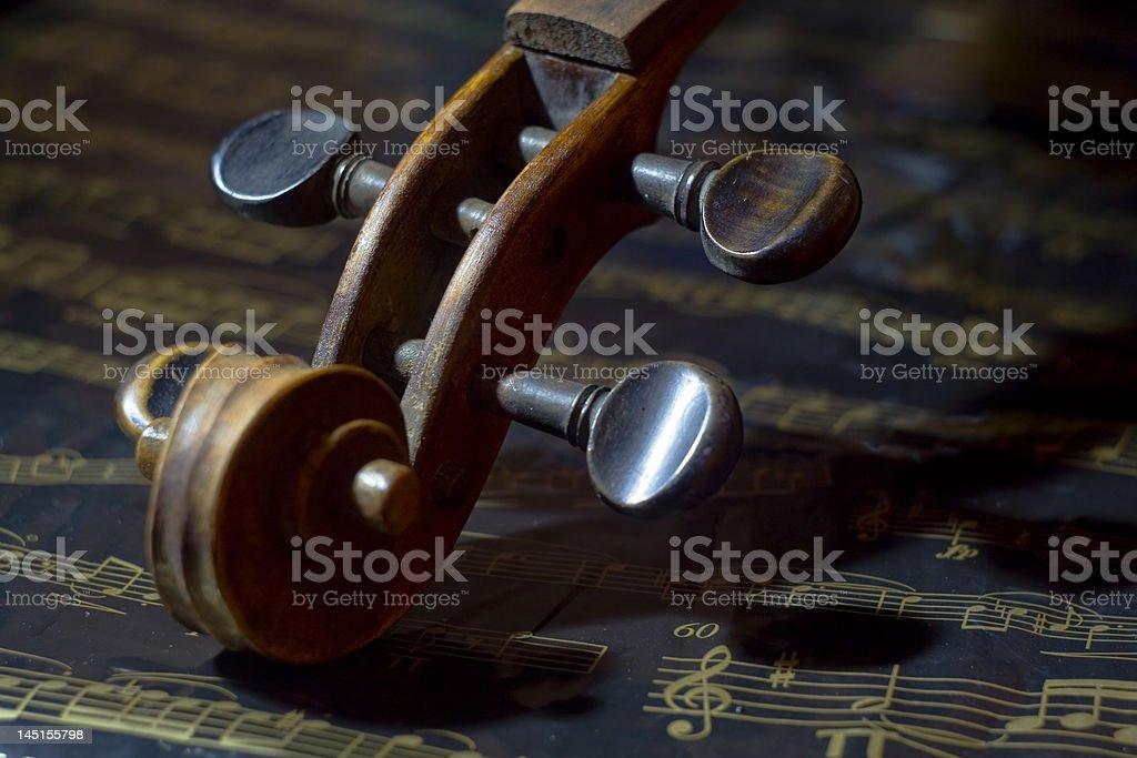 Violin and music sheet royalty-free stock photo
