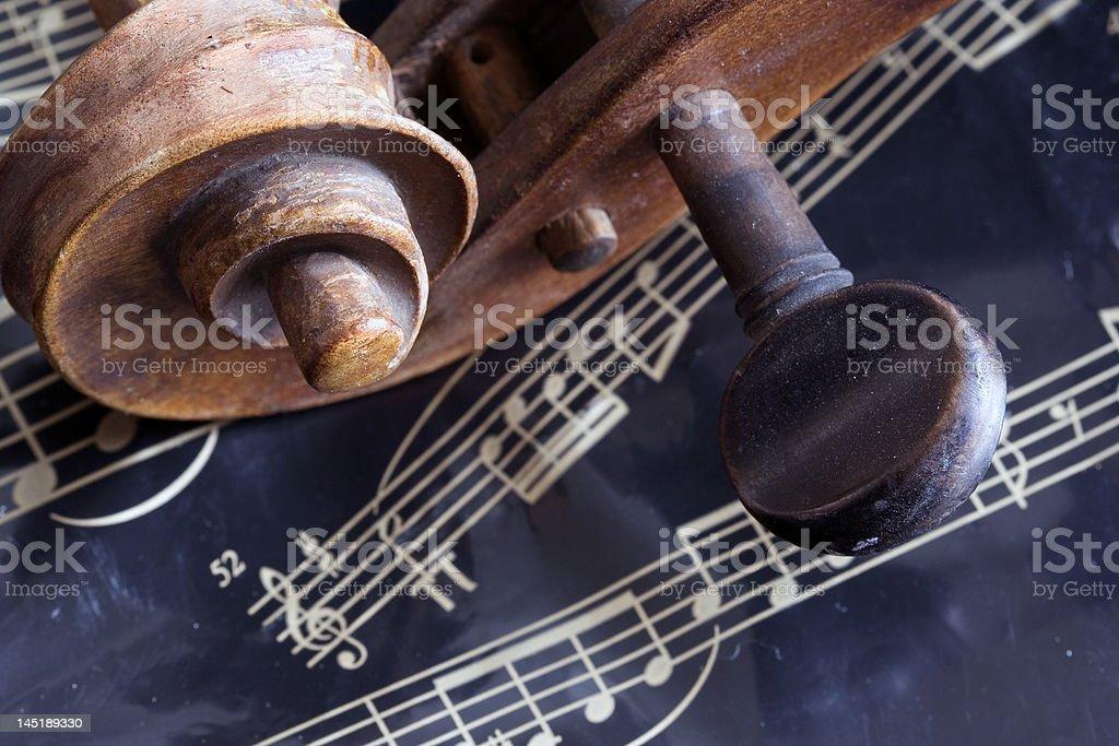 Violin and music sheet stock photo