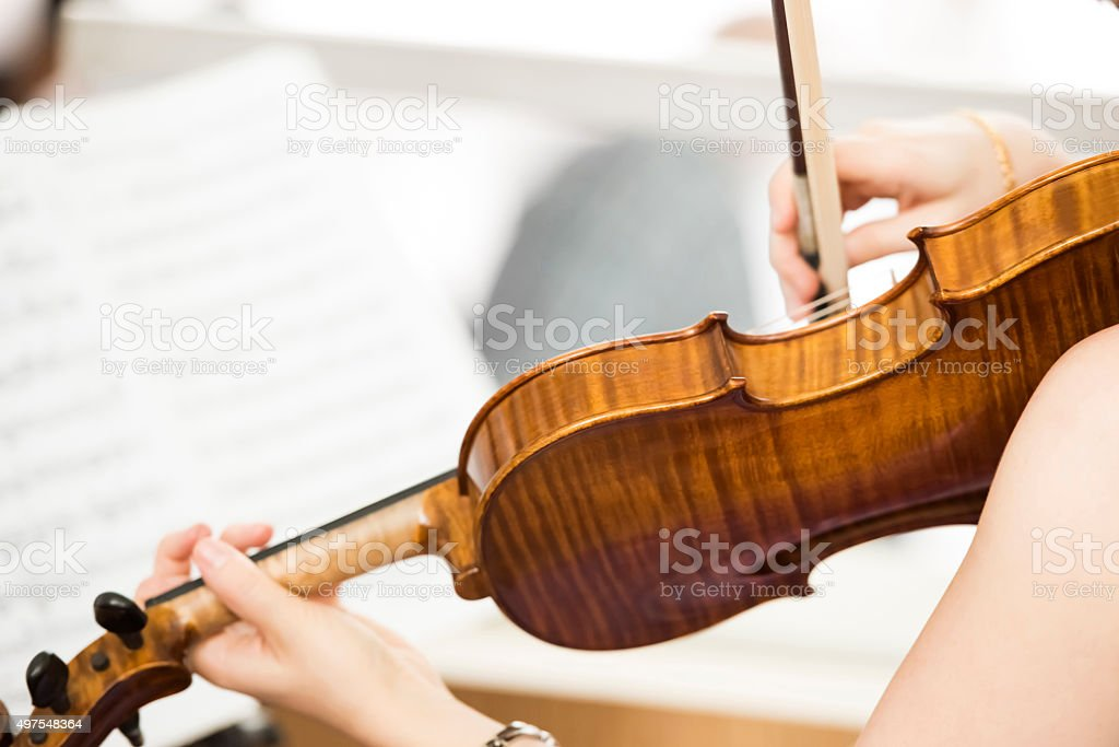 Violin and Music Sheet stock photo
