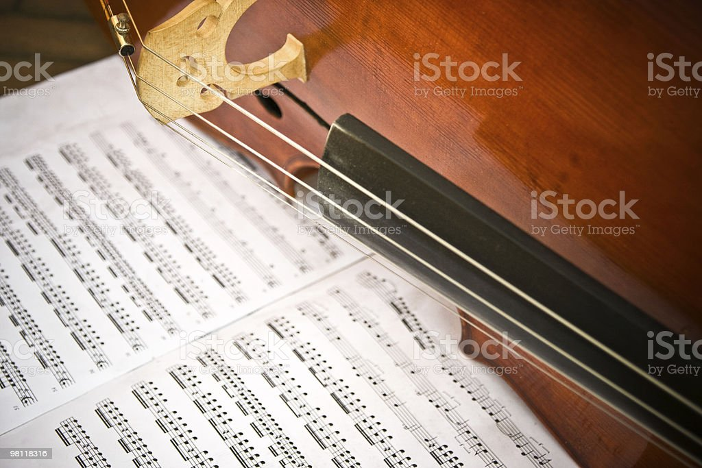 Violin and musical notes royalty-free stock photo