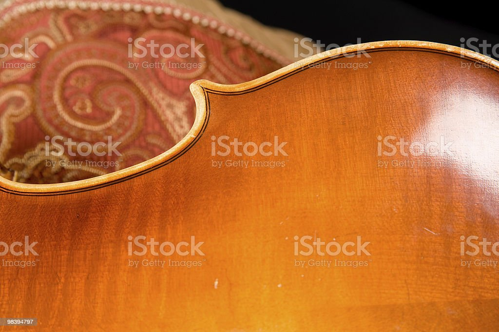 Violin back with swirl upholstery royalty-free stock photo