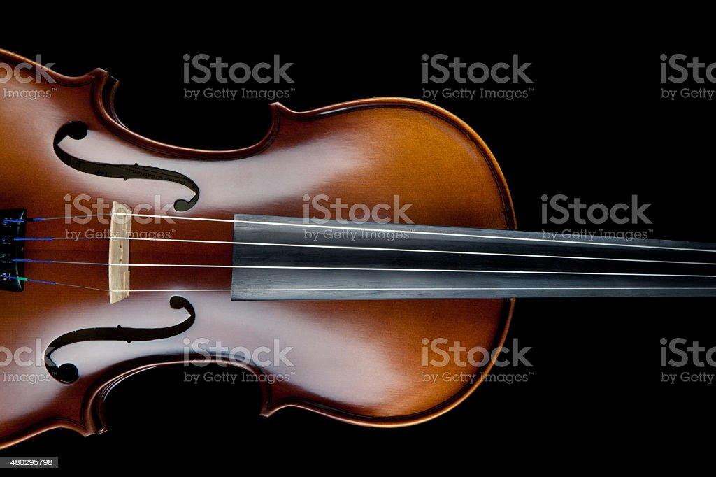 Violin Black Background stock photo