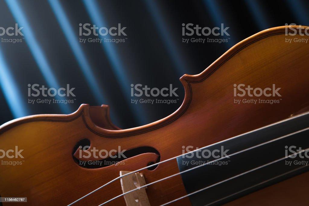Violin. Cello. curtain. Classical music.
