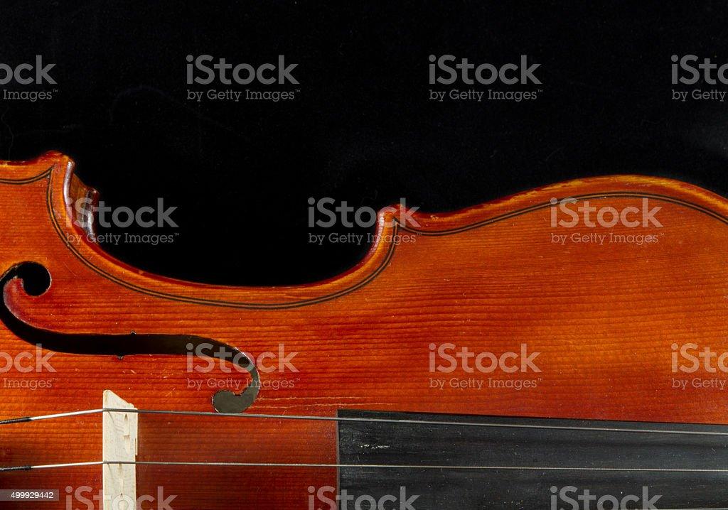 Violin close-up stock photo