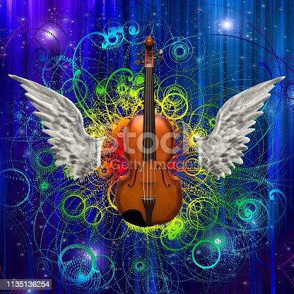 istock Violin Design 1135136254