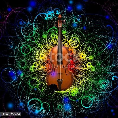 istock Violin Design 1143027754